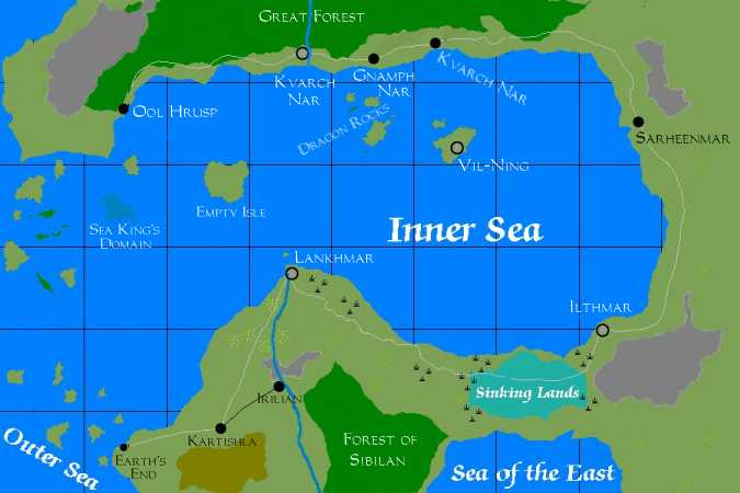 The Inner Sea map